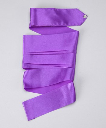 Purple Satin Streamer