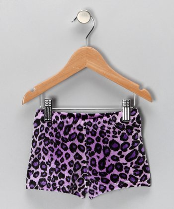 Purple Sweet Safari Shorts - Girls