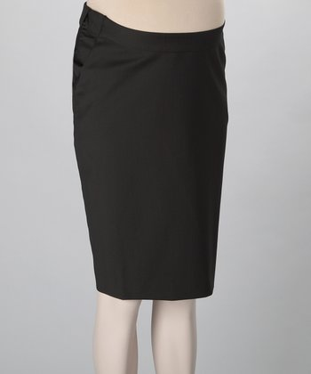 Chocolate Maternity Pencil Skirt