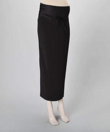 Jet Set Black Maternity Maxi Skirt