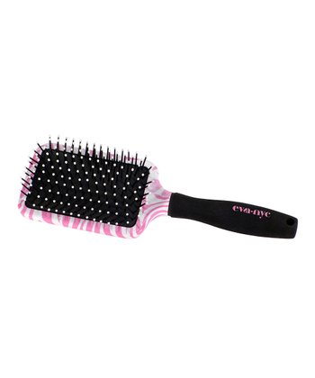 Pink Zebra Paddle Brush