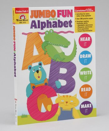 Jumbo Fun With the Alphabet: Pre-K to Grade 1 Workbook