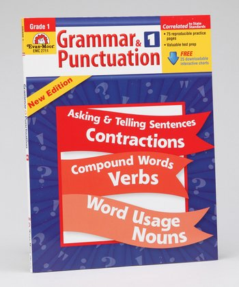 Grammar & Punctuation: Grade 1 Paperback & CD-ROM