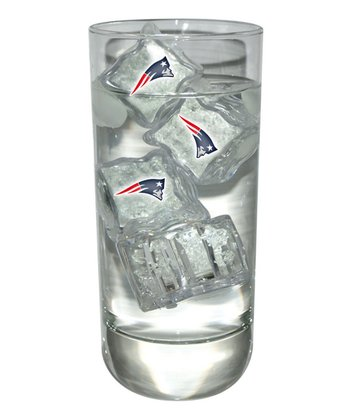 New England Patriots Light-Up Ice Cube - Set of Four