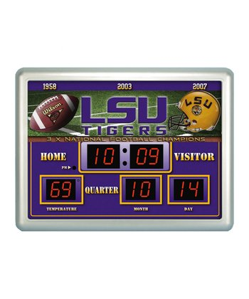 Louisiana State Large Scoreboard Alarm Clock/Thermomet