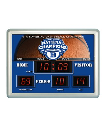 Duke Large Scoreboard Alarm Clock/Thermometer