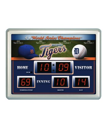 Detroit Tigers Scoreboard Clock/Thermometer