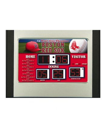 Boston Red Sox Scoreboard Desk Clock