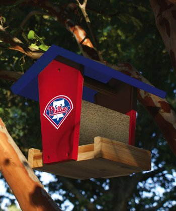 Philadelphia Phillies Wood Bird Feeder