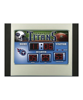 Tennessee Titans Small Scoreboard Clock/Thermometer
