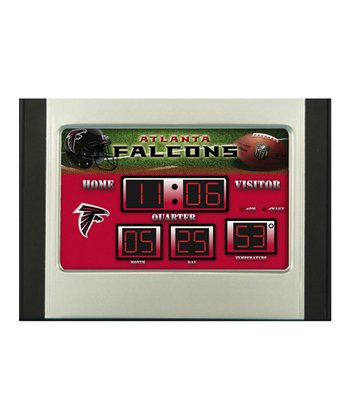 Atlanta Falcons Small Scoreboard Clock/Thermometer