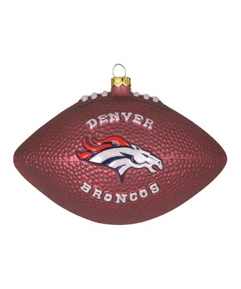 Denver Broncos Football Ornament