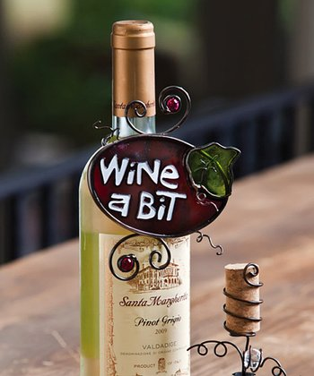'Wine A Bit' Wine Bottle Accent