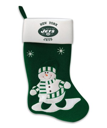 New York Jets Snowman Stocking
