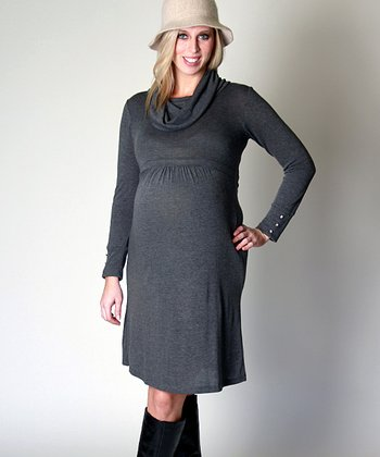 Charcoal Paige Maternity Sweater Dress