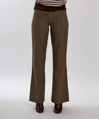 Plaid Gabby Maternity Flare Pants