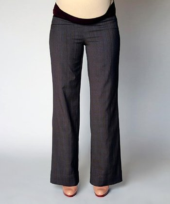 Plaid Gabby Maternity Trousers
