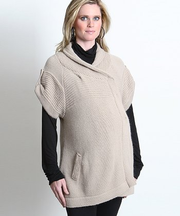 Stone Everly Maternity Wrap Sweater