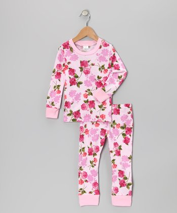 Pink Floral Pajama Set - Infant, Toddler & Girls