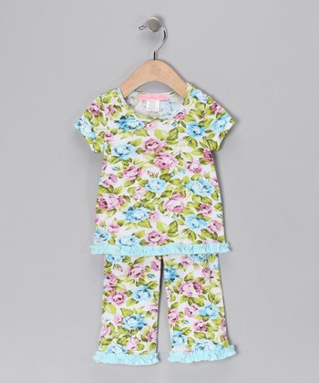 Light Blue Fairy Tale Top & Pants - Infant & Girls