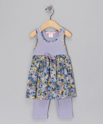Blue Oasis Dress & Leggings - Infant