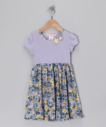 Blue Oasis Floral Dress - Toddler