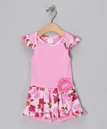 Pink Romance Skirted Romper - Infant