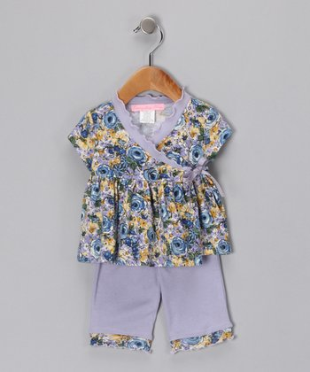 Blue Oasis Wrap Top & Pants - Infant