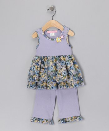 Blue Oasis Betsy Tunic & Ruffle Pants - Infant