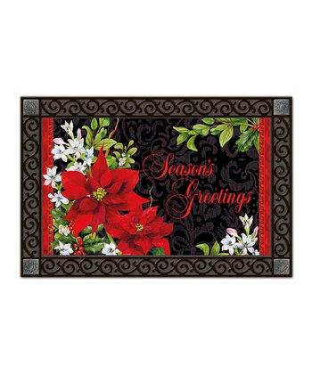 Holiday Floral MatMates Doormat