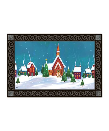 Winter Village MatMates Doormat