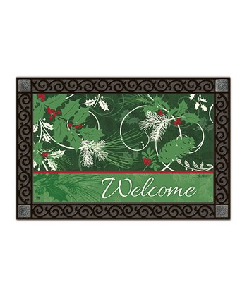 Christmas Scroll MatMates Doormat