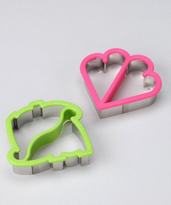 Heart & Dinosaur Crust Cutters - Set of Two