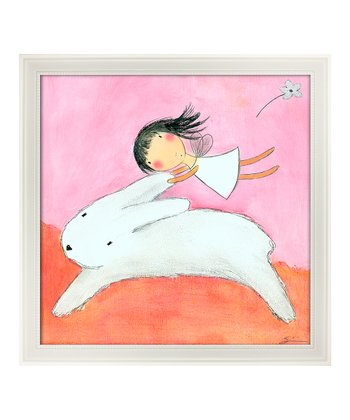 Eyelevel Fairy & Hare Framed Print