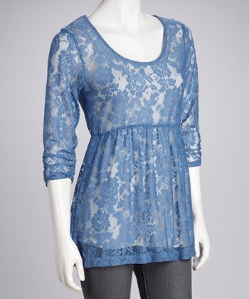 Eyeshadow Chambray Lace Tunic
