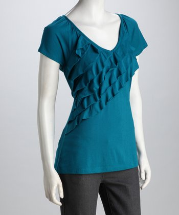 Ocean Depths Ruffle Top