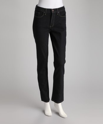 Rinsed Black Cropped Jeans