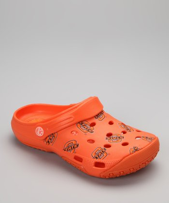 Orange Oklahoma State Clog - Women