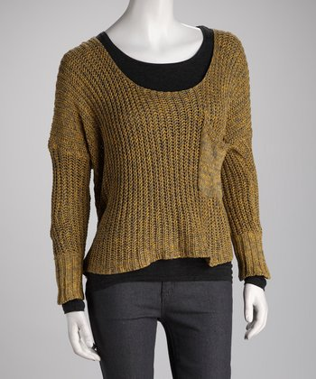 Mustard Pocket Sweater