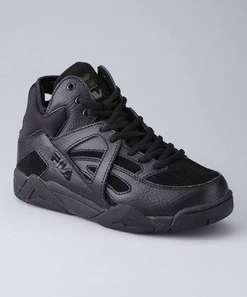 Black The Cage Hi-Top Basketball Sneaker