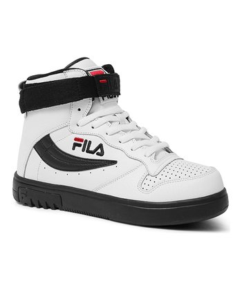 White & Black Fx-100 Sl Hi-Top Sneaker