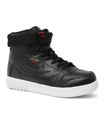 Black & Red Fx-100 Sl Hi-Top Sneaker