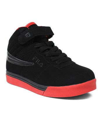 Black & Chred Vulc 13 Hi-Top Sneaker