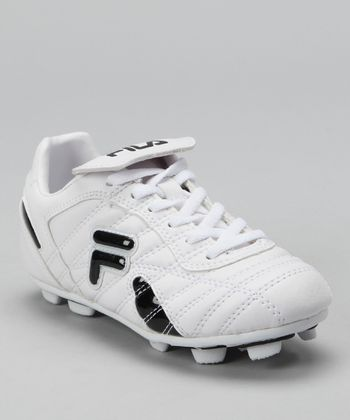 White & Black Forza III Rubber Blade Soccer Cleat - Kids