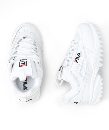 White & Red Disruptor II Sneaker