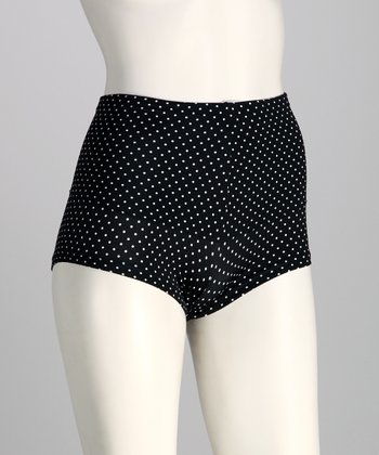 Black & White Dots Instant Slimmer Shaper Briefs