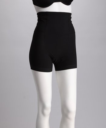 Black On the Edge High-Waisted Shaper Boyshorts