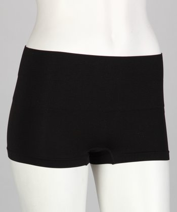 Black High-Waisted Shaper Boyshorts