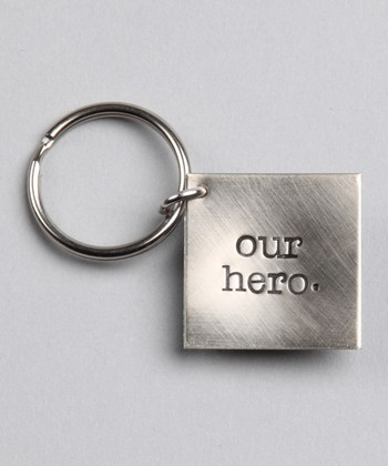 Silver Expressions 'Our Hero' Key Chain