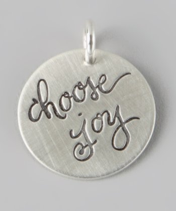 Sterling Silver 'Choose Joy' Charm